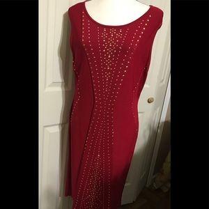 Calvin Klein red dress size XL